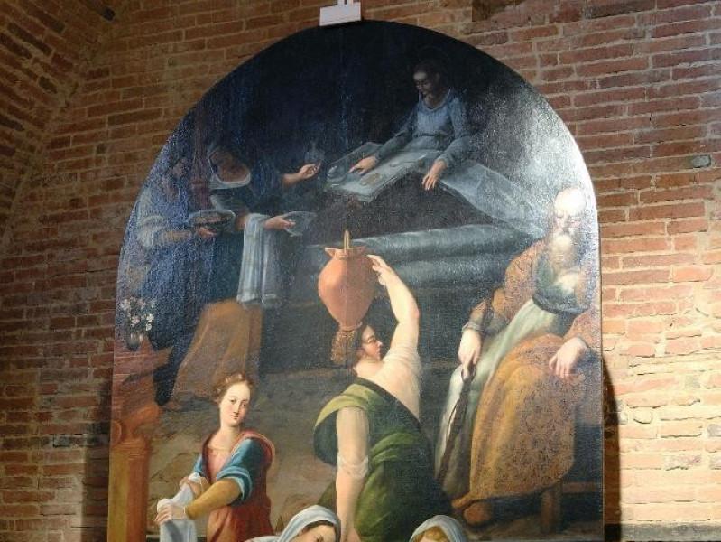 Dipinto. Nascita di Maria. Ambito Italia cent Fedeli, Marcello; jpg; 1417 pixels; 2126 pixels