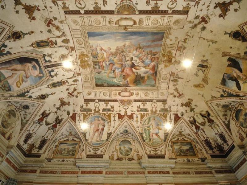 Salvio Savini. Dipinto. Convito degli Dei. Se Fedeli, Marcello; jpg; 2126 pixels; 1417 pixels