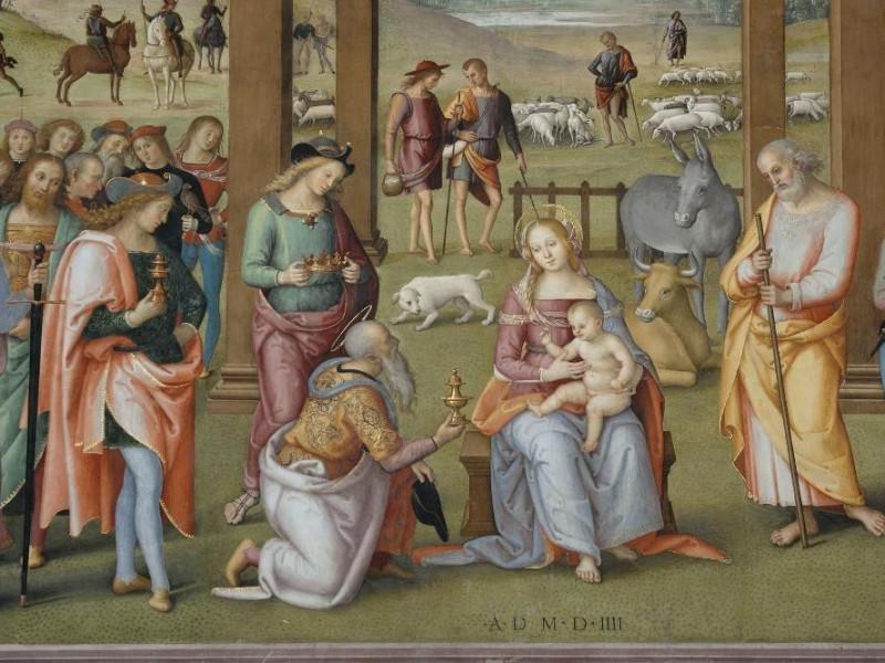 Pietro Vannucci detto il Perugino, Adorazione Fedeli, Marcello; jpg; 2126 pixels; 1417 pixels