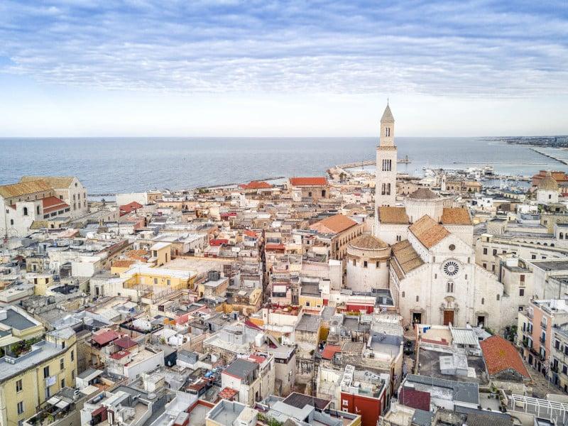 Vista panoramica della città vecchia di Bari