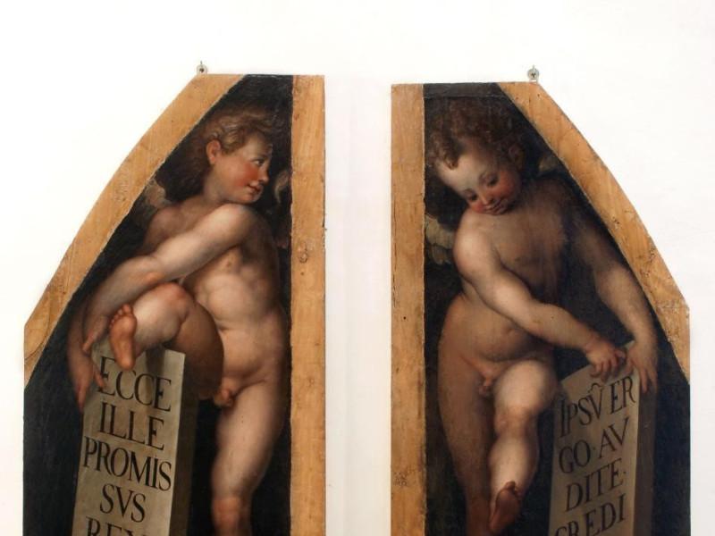 Giulio Pippi detto Giulio Romano (?), Due ang Bellu, Sandro; jpg; 3076 pixels; 3248 pixels