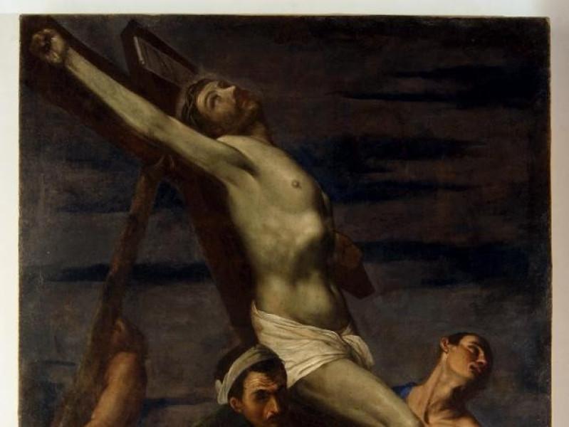 Bernardino Gagliardi, Innalzamento della croc Bellu, Sandro; jpg; 2491 pixels; 4026 pixels