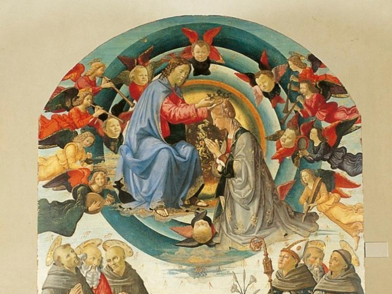 Bottega di Domenico Ghirlandaio, Incoronazion Bellu, Sandro/ Castignani, Sante/ Royal Collection Enterprise Ltd. Windsor (England); jpg; 619 pixels; 768 pixels