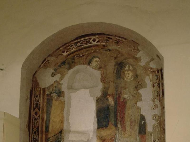Dipinto. Madonna con Gesù Bambino in trono tr Fedeli, Marcello; jpg; 1417 pixels; 2126 pixels