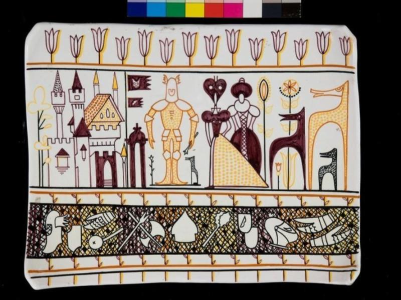 Formella in ceramica Tatge, George; jpg; 768 pixels; 512 pixels