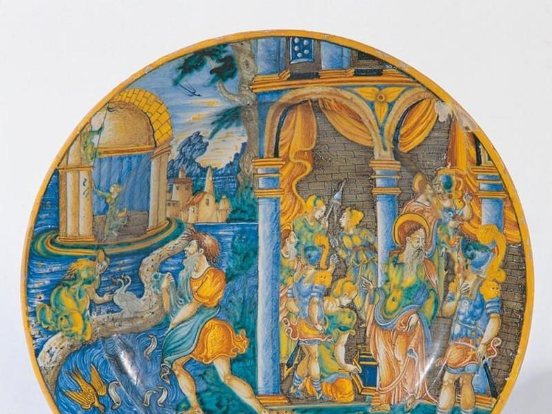 Bottega di Giacomo Mancini, Piatto, metà del  Bellu, Sandro/ Castignani, Sante; jpg; 766 pixels; 768 pixels