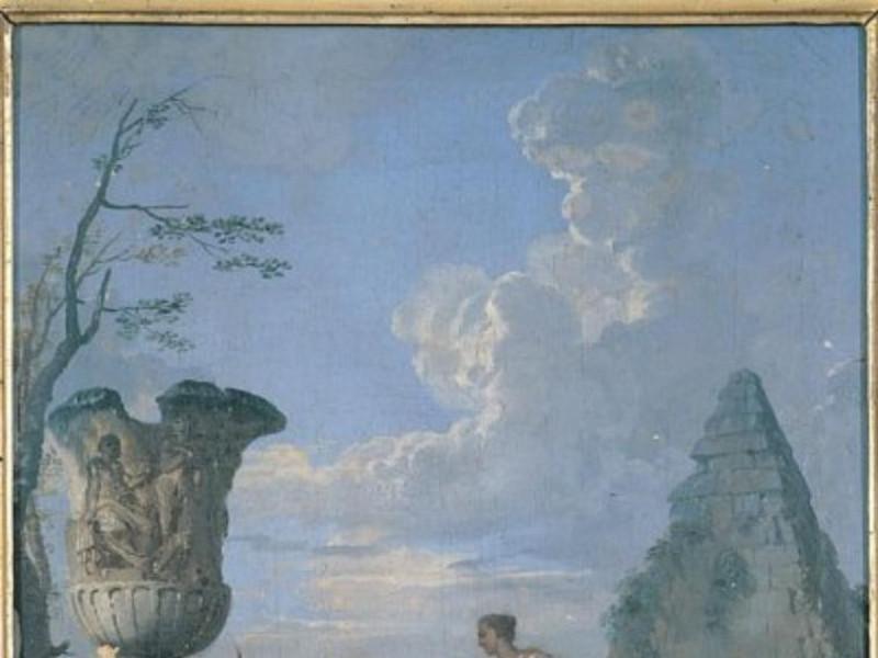 Giovanni Paolo Panini, Rovine e figure. Predi jpg; 400 pixels; 528 pixels