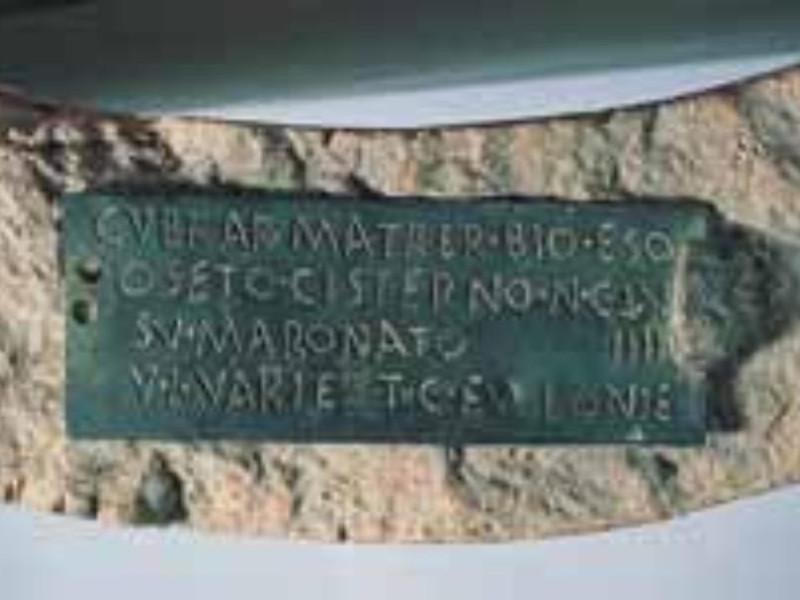 Dedica a Cupra Museo Archeologico Nazionale di Perugia; jpg; 247 pixels; 150 pixels