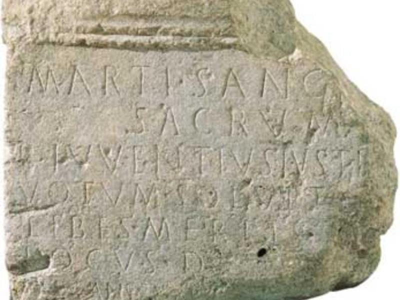 Iscrizione con dedica a Marte Giorgetti, Alessio/ Tatge George; jpg; 347 pixels; 300 pixels