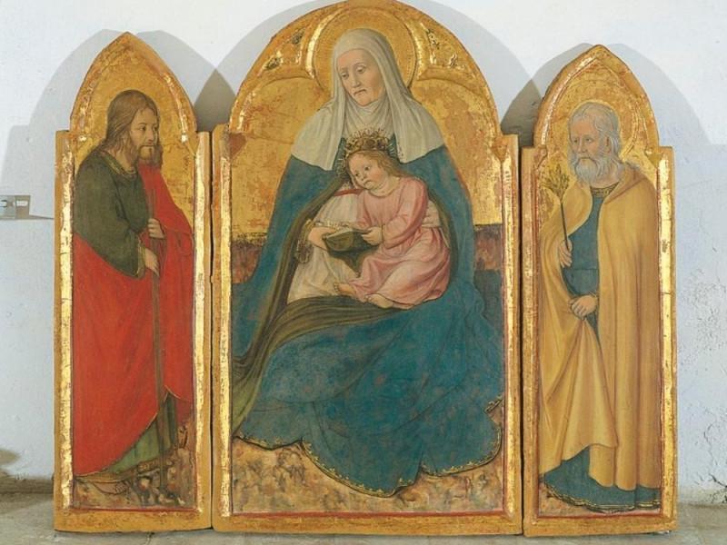 Antonio da Fabriano, Trittico con sant'Anna e Giorgetti, Alessio; jpg; 768 pixels; 631 pixels