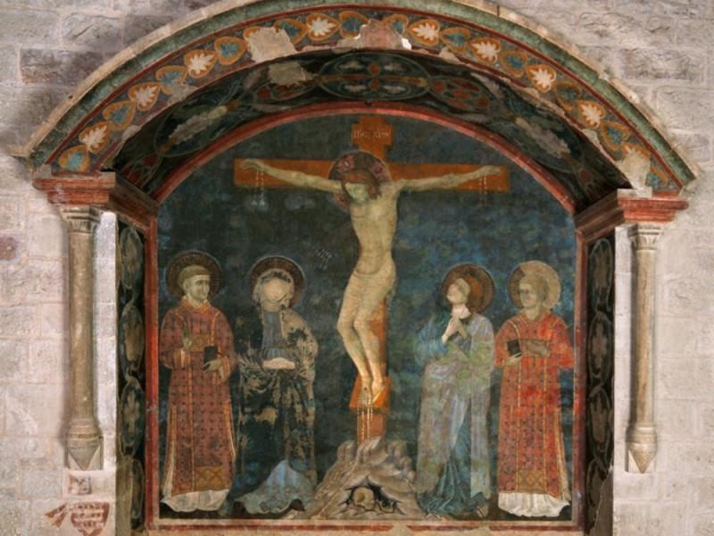 Maestro della Croce di Gubbio, Crocifissione  Bellu, Sandro; jpg; 831 pixels; 692 pixels
