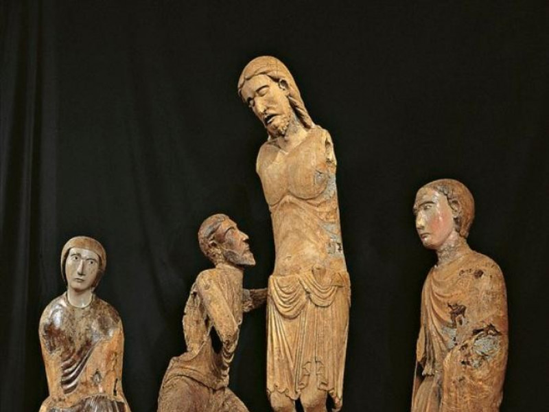 Bottega altotiberina, Crocifisso, Madonna, Sa Bellu, Sandro/ Castignani, Sante; jpg; 532 pixels; 768 pixels