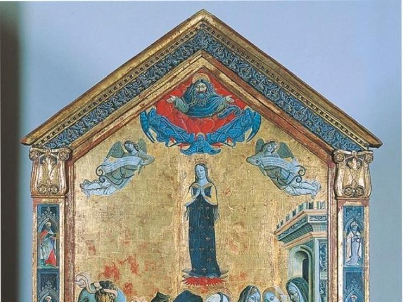 Matteo di Pietro da Gualdo, Incontro di Gioac jpg; 566 pixels; 768 pixels