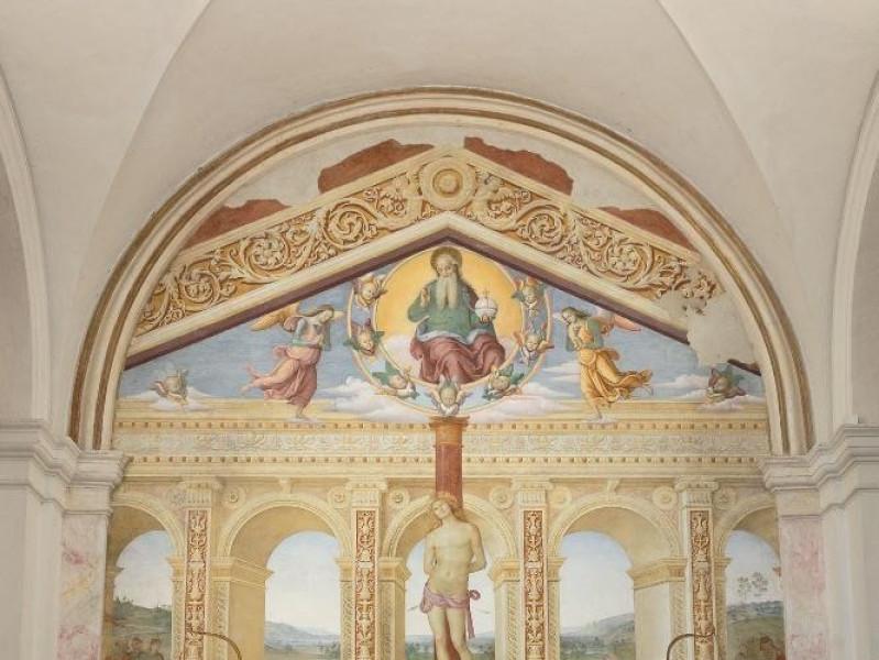 """Pietro Vannucci detto il Perugino. """"Martirio Fedeli, Marcello; jpg; 1417 pixels; 2126 pixels"""