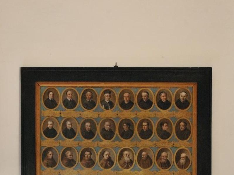 """Dipinto. """"Uomini Illustri di Panicale"""". Fedeli, Marcello; jpg; 1417 pixels; 2126 pixels"""
