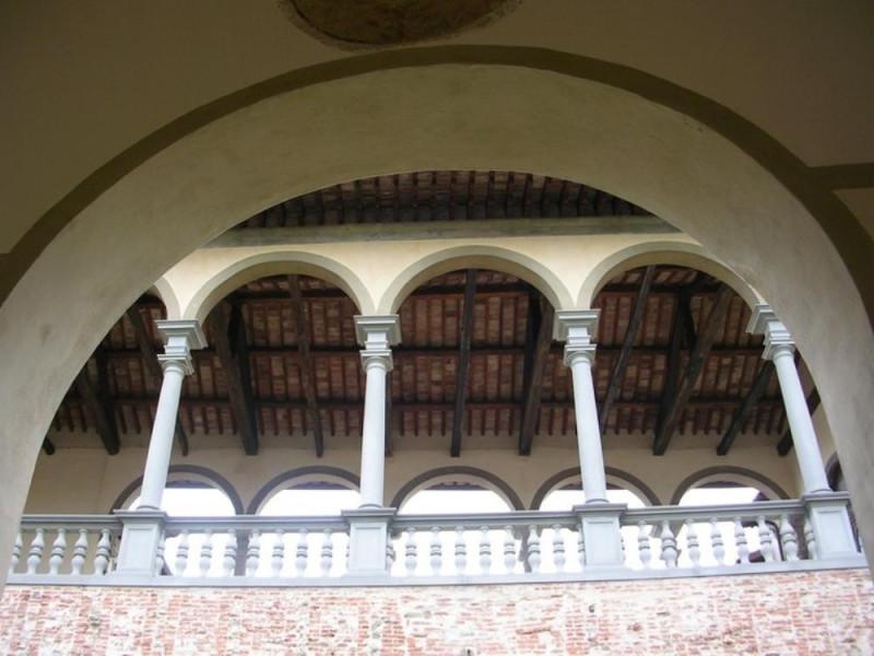 Castello Bufalini. Particolare della loggia. Parco Tecnologico 3A-Progetto Ville e Giardini Regione Umbria; jpg; 768 pixels; 576 pixels