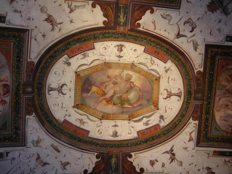 Castello Bufalini. Ex archivio, decorazioni p Parco Tecnologico 3A-Progetto Ville e Giardini Regione Umbria; jpg; 768 pixels; 576 pixels