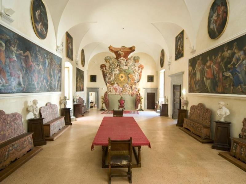Castello Bufalini. Interno. Sala del trono Parco Tecnologico 3A-Progetto Ville e Giardini Regione Umbria; jpg; 1936 pixels; 1296 pixels