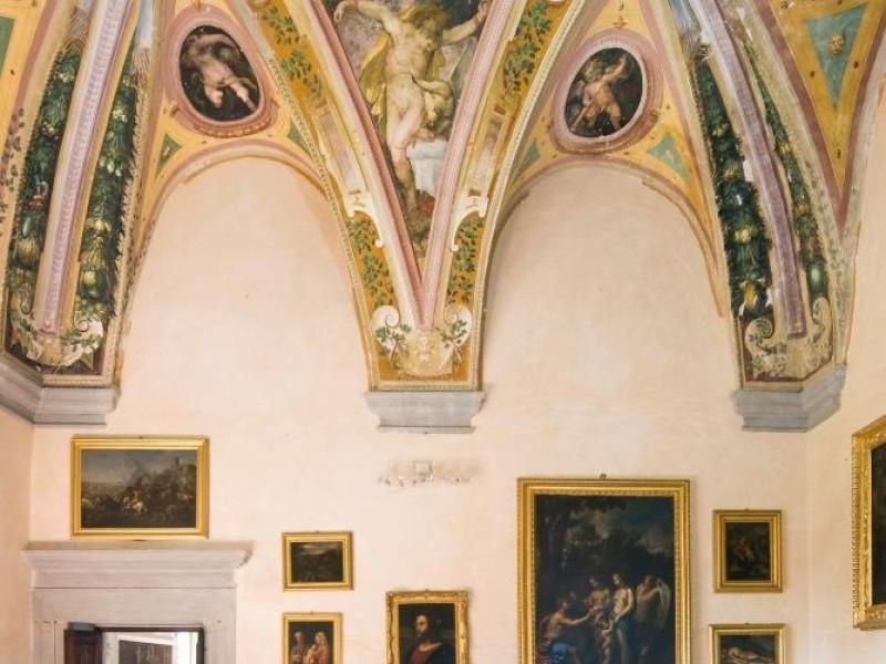Castello Bufalini. Interno. Sala di Prometeo Parco Tecnologico 3A-Progetto Ville e Giardini Regione Umbria; jpg; 1296 pixels; 1936 pixels