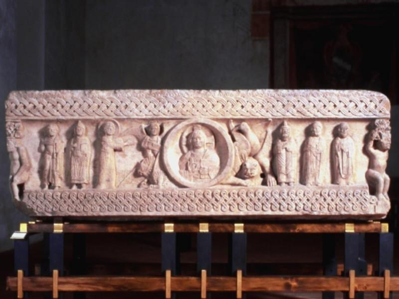 Museo del Ducato di Spoleto. Sarcofago di San Archivio fotografico BAPPSAE dell'Umbria/ Bellu, Sandro; jpg; 721 pixels; 576 pixels