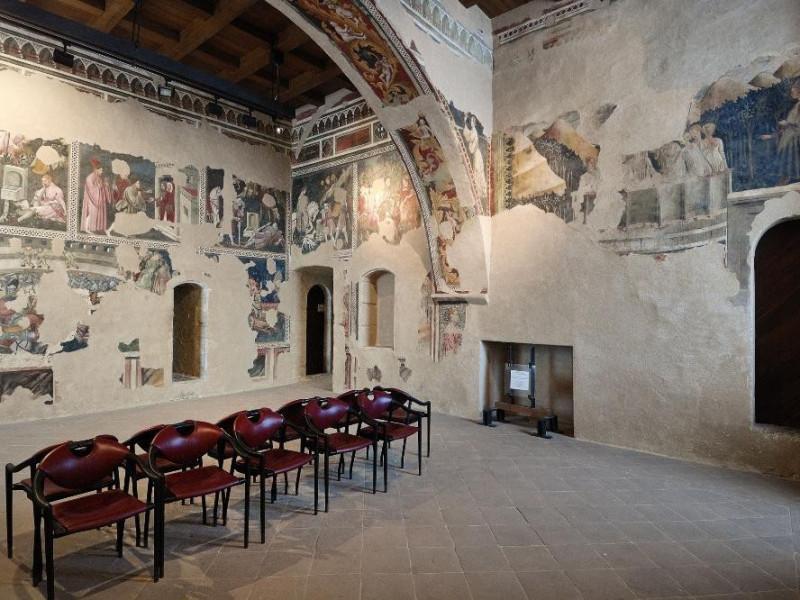 Rocca Albornoziana. Camera pinta. Affreschi.  ; jpg; 2126 pixels; 1417 pixels