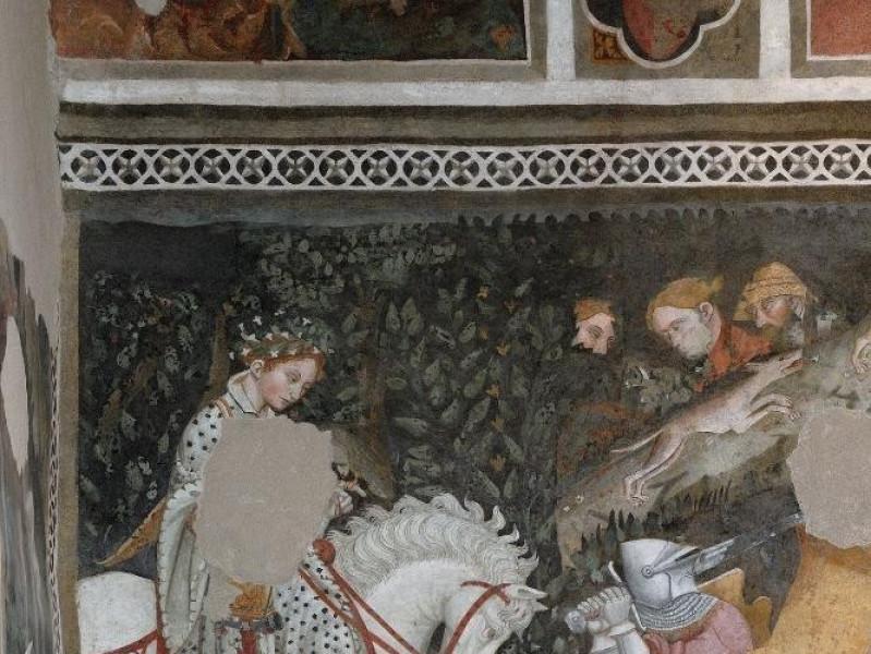 Rocca Albornoziana. Camera pinta. Affreschi,  Fedeli, Marcello; jpg; 1417 pixels; 2126 pixels