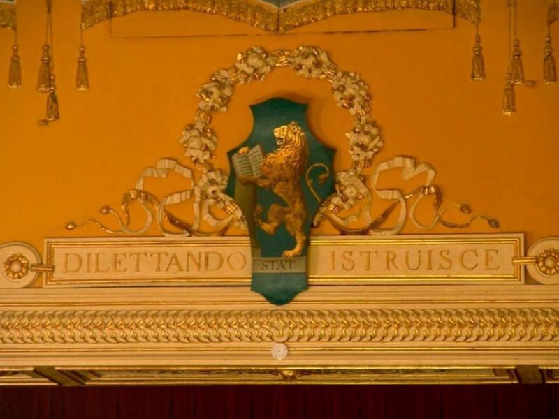 Teatro della Sapienza. Particolare del fregio Bovini, Mirko