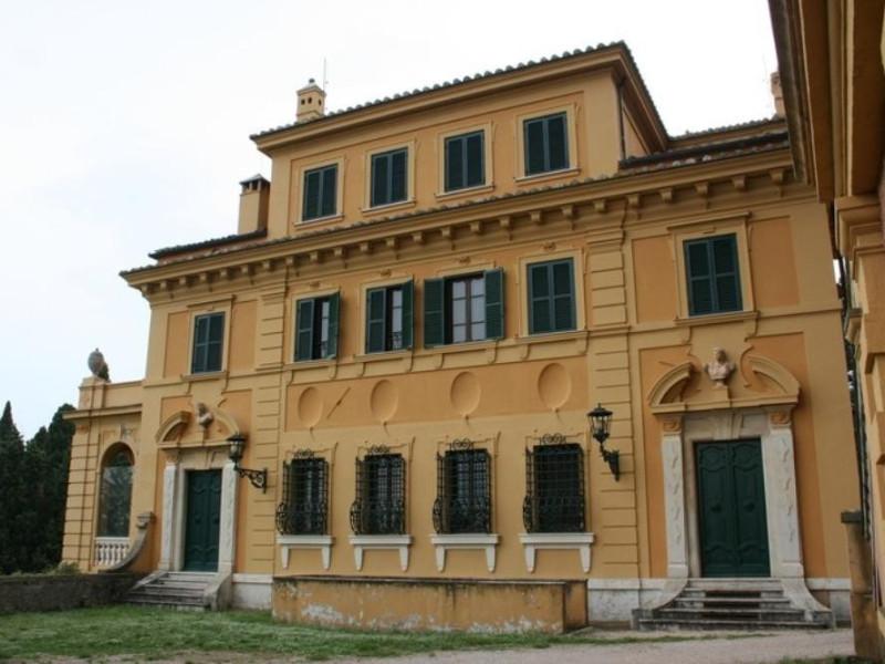 Villa Fidelia. Veduta della facciata nord.  Parco Tecnologico 3A-Progetto Ville e Giardini Regione Umbria; jpg; 768 pixels; 512 pixels