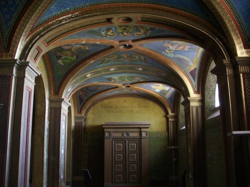 Villa Fabri. Interno. Decorazioni parietali.  Parco Tecnologico 3A-Progetto Ville e Giardini Regione Umbria; jpg; 768 pixels; 576 pixels