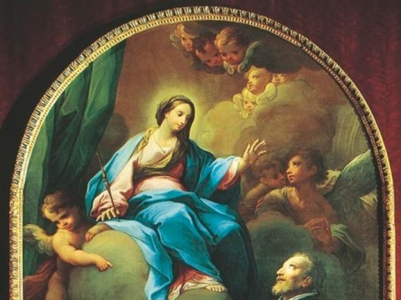 Cerchia di Sebastiano Conca. La Vergine liber jpg; 479 pixels; 768 pixels