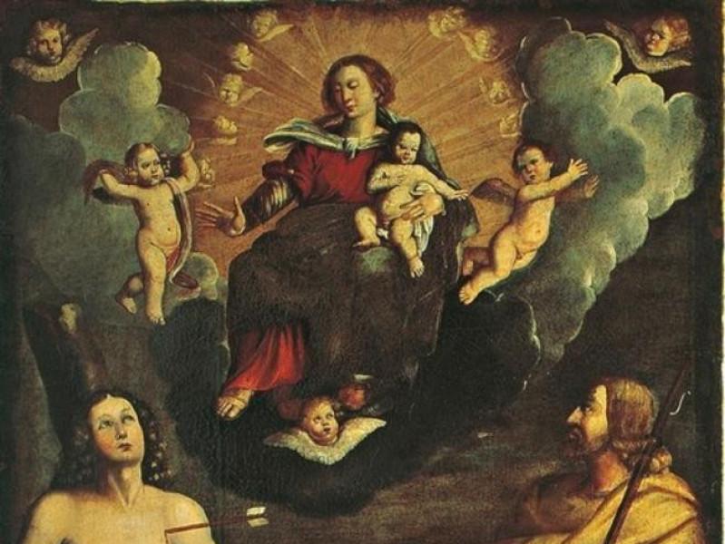 Calisto Calisti, Madonna col Bambino e i sant Giorgetti, Alessio; jpg; 506 pixels; 768 pixels