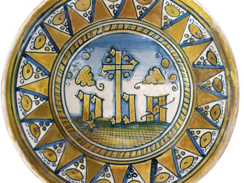 Piatto di epoca medievale jpg; 1472 pixels; 1456 pixels