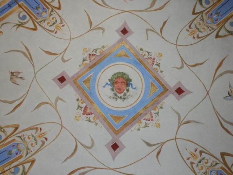 Villa Faina. Interno, decorazioni parietali.  Parco Tecnologico 3A-Progetto Ville e Giardini Regione Umbria; jpg; 768 pixels; 512 pixels