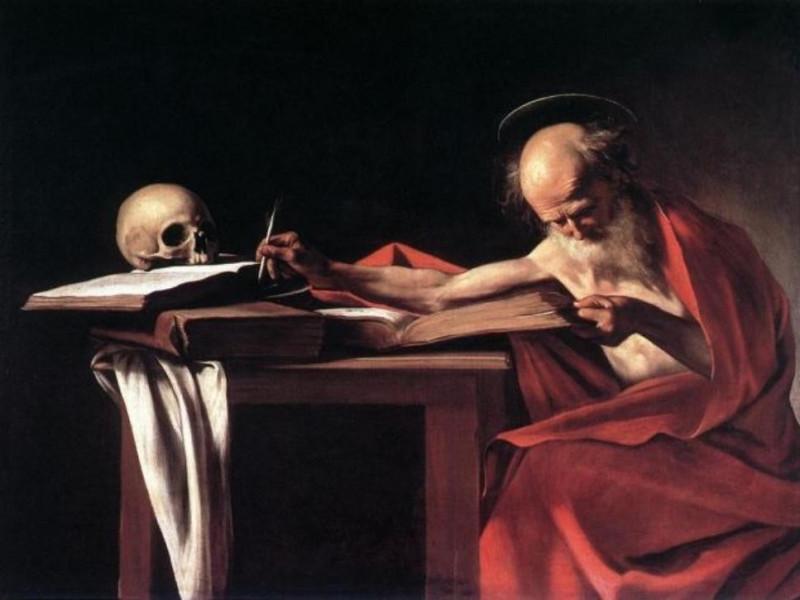 Caravaggio - San Girolamo