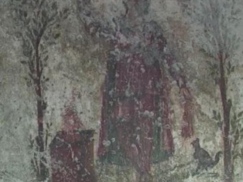 Mitreo, dettaglio della scena dipinta