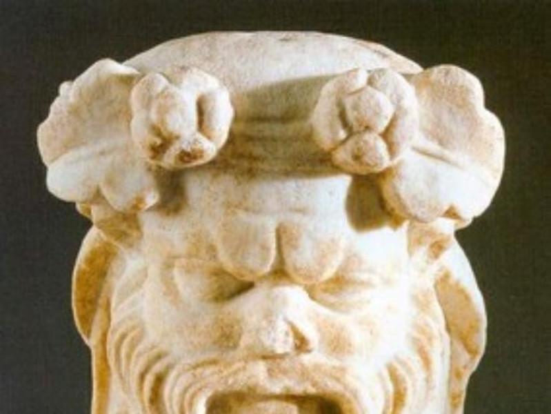 Villa Regina, testa di Dioniso
