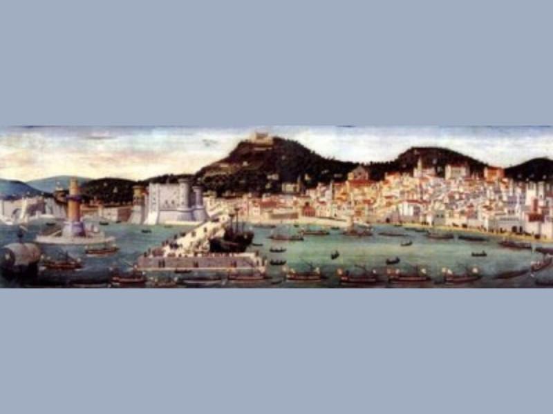 Veduta di Napoli nella Tavola Strozzi