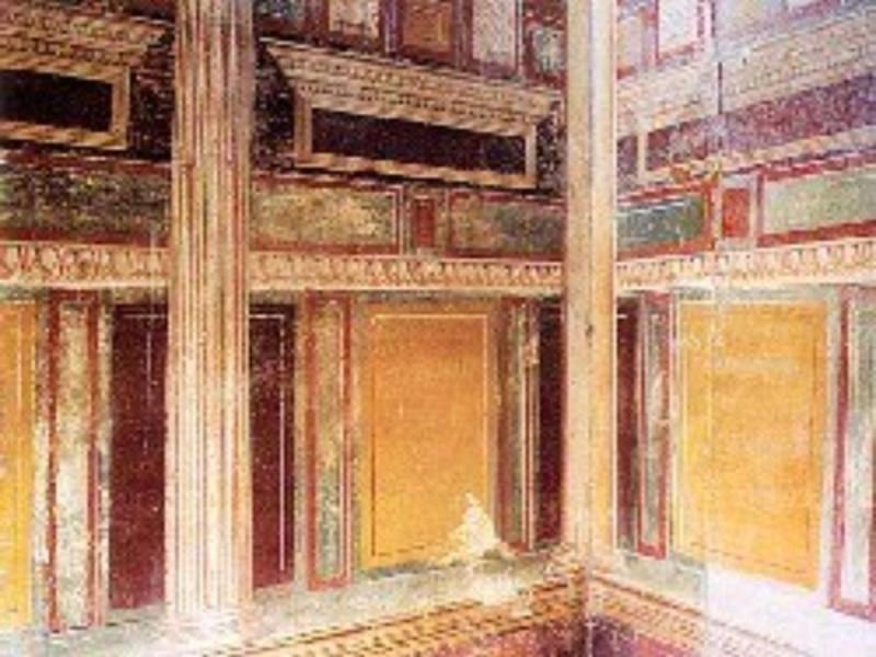 Villa di Arianna, particolare di ambiente in