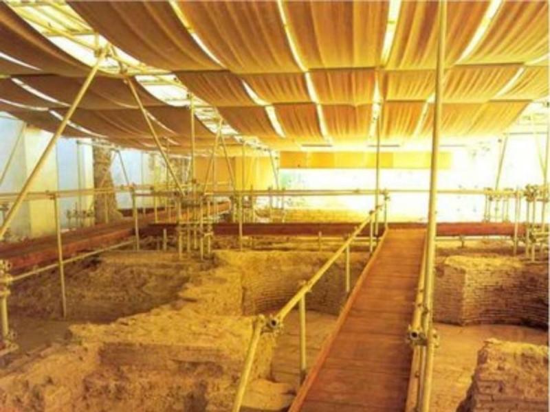 Area archeologica, gli ambienti termali