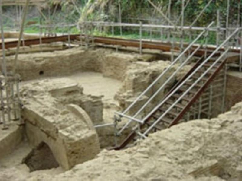 Area archeologica, gli ambienti termali con i