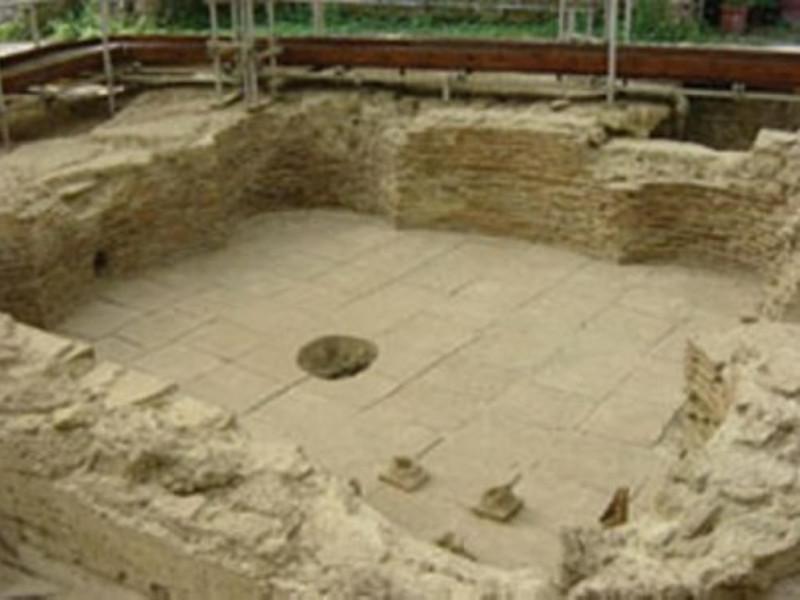 Area archeologica, sala con ipocausto