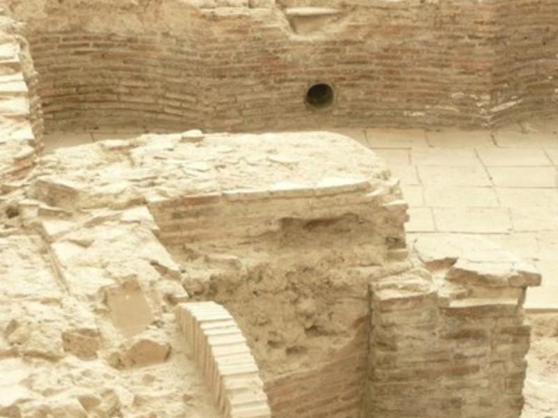 Area archeologica, dettaglio dell'ipocausto
