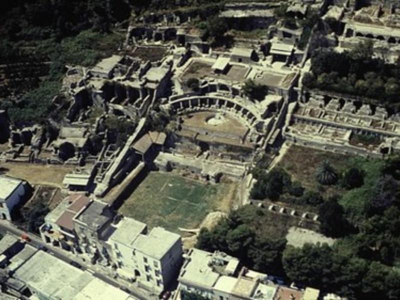 Parco archeologico, veduta generale dall'alto