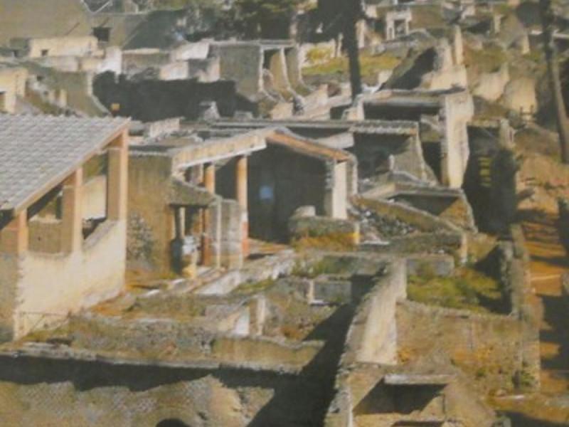 Scavi di Ercolano, veduta panoramica di parte