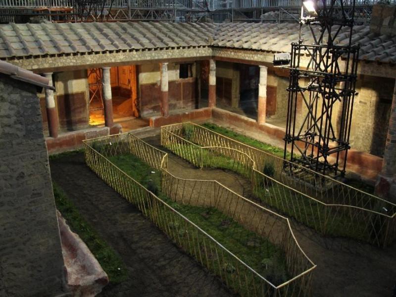Scavi di Pompei, Giardino della domus dei cas