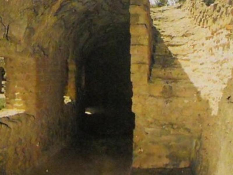 C.d. Tomba di Agrippina, particolare del crip