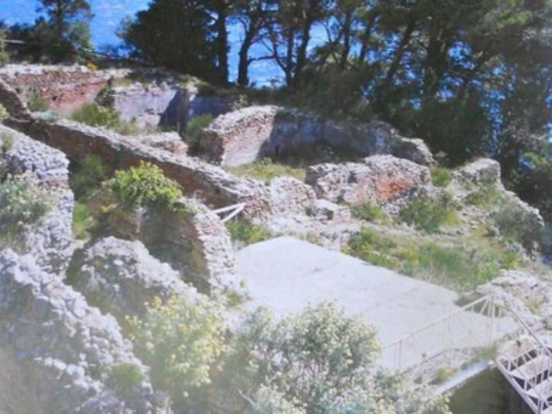 Villa Jovis, veduta dall'alto