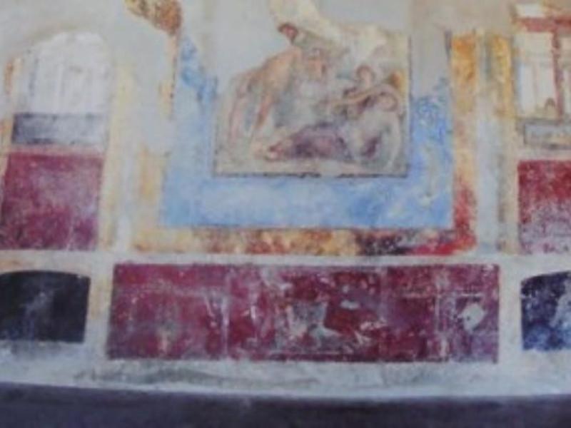 Villa San Marco, particolare di ambiente con