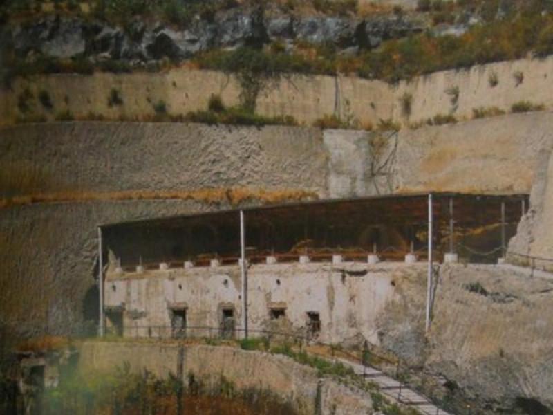 Villa dei Papiri, veduta panoramica dell'area