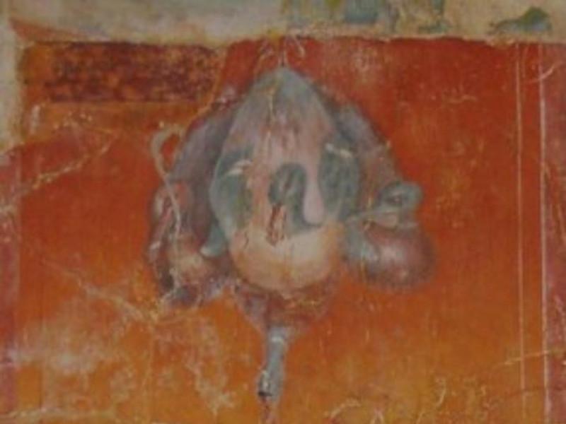 Villa dei Papiri, dettaglio di un affresco pa